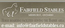 Fairfield Stables - Horse Boarding